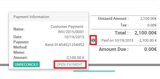 bank reconciliation in odoo12