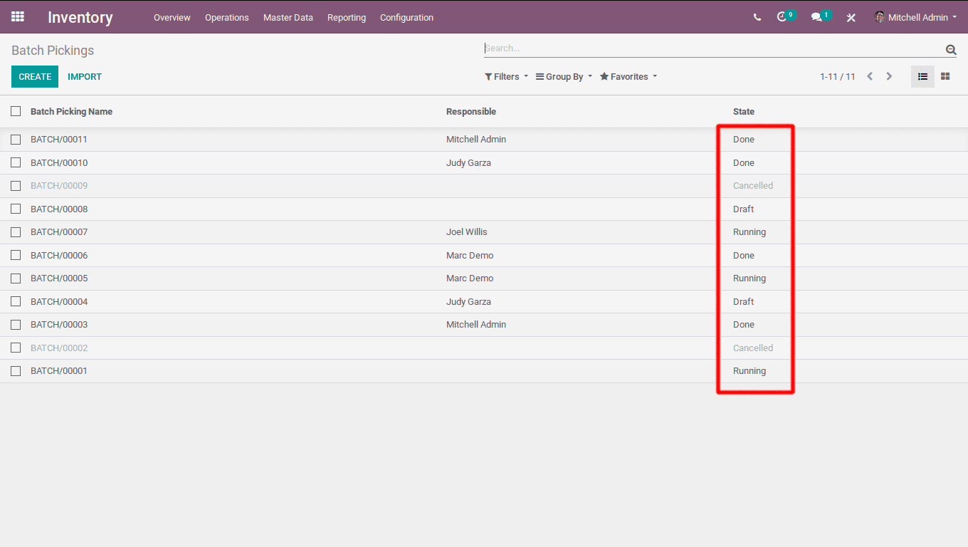 batch pickings in odoo v12