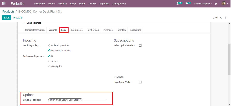 Cross-Selling in Odoo 14 E-commerce Cybrosys