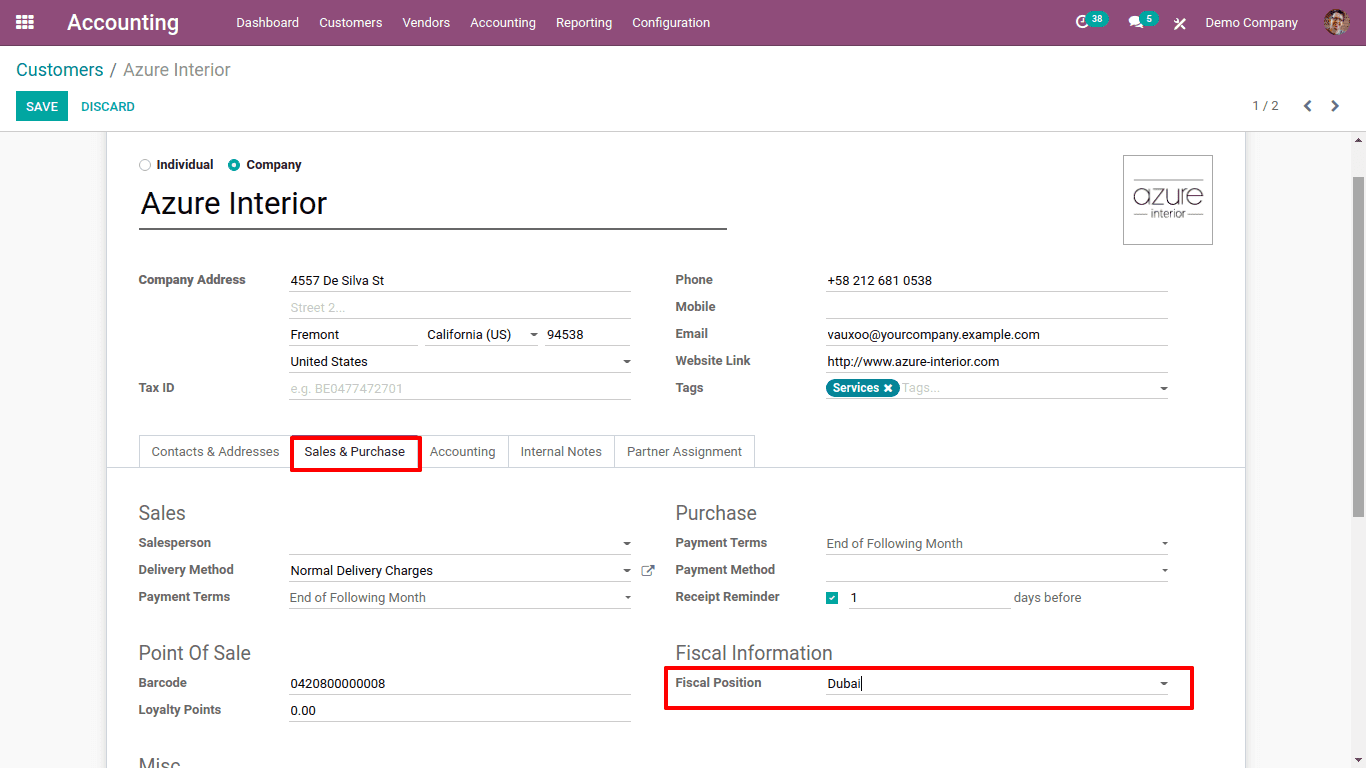 fiscal-position-in-odoo-14