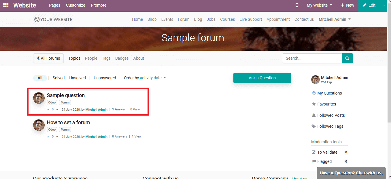 forums-in-odoo-13-elearning-cybrosys