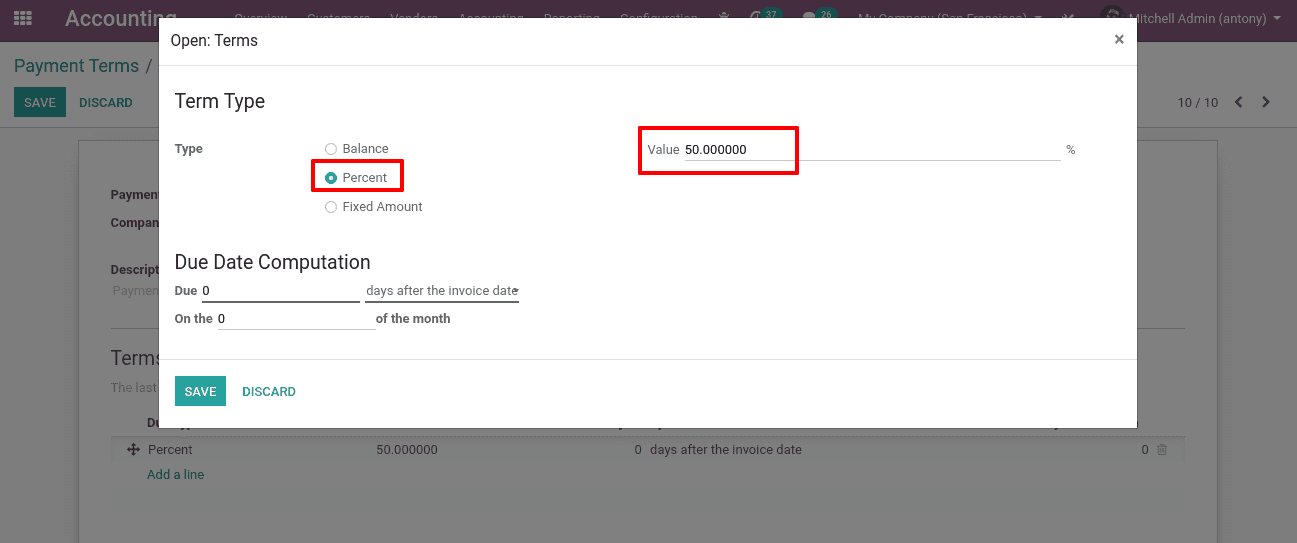 how-to-create-and-use-payment-terms-in-odoo-13