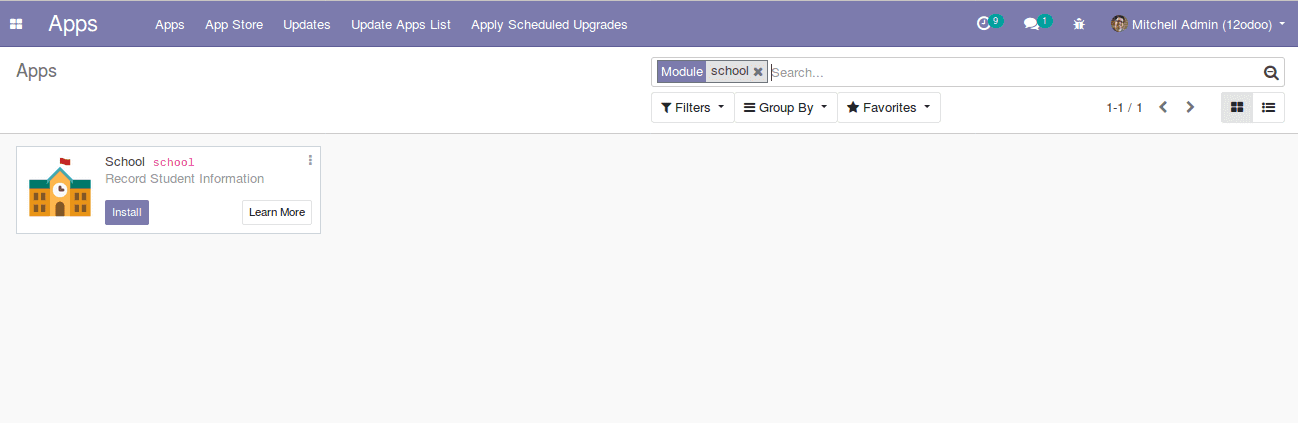 how to create a module in odoo12