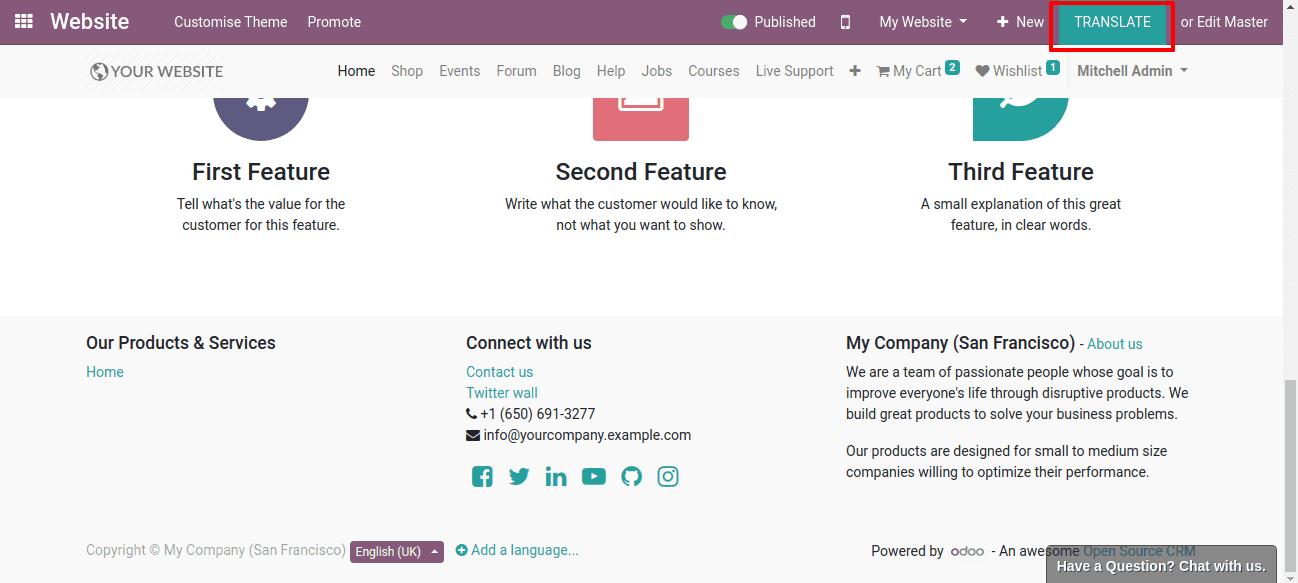 how to translate odoo 13 website cybrosys