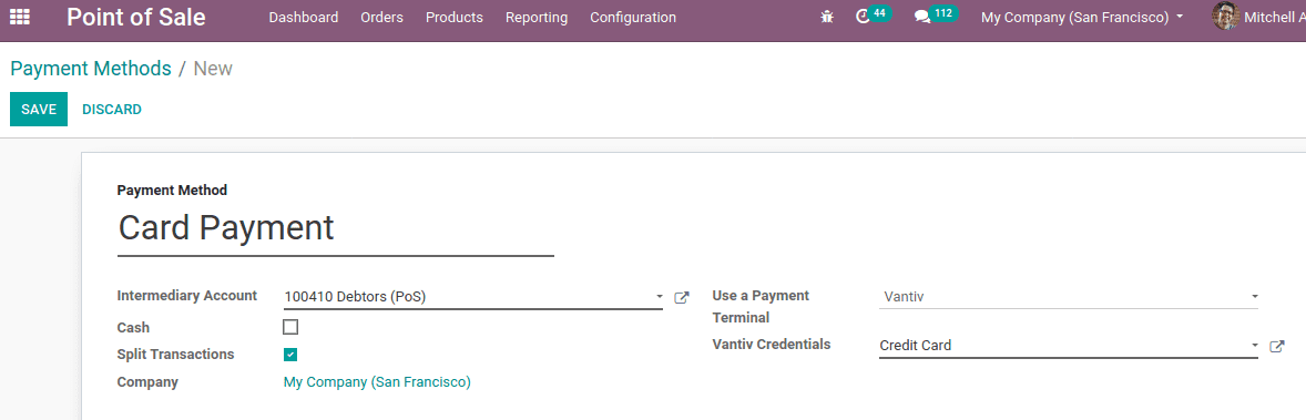 mercury payment services odoo 13 cybrosys