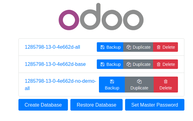 odoo-13-database-management