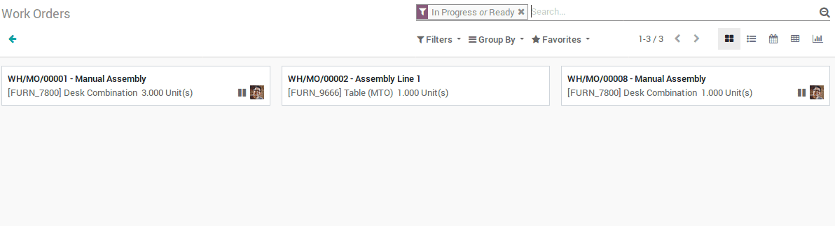 odoo manufacturing v12