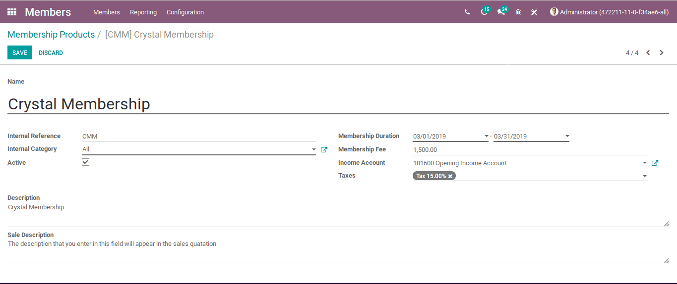 odoo-membership-management