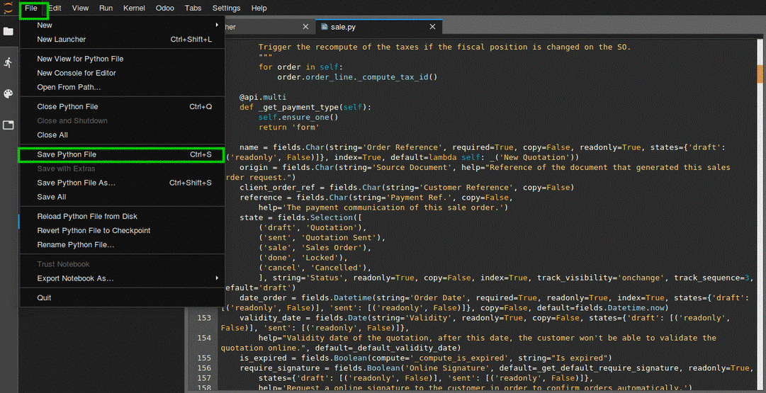 Odoo sh - Online Editor