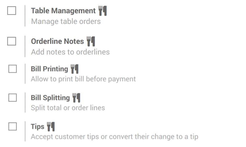 odoo 12 point of sale features