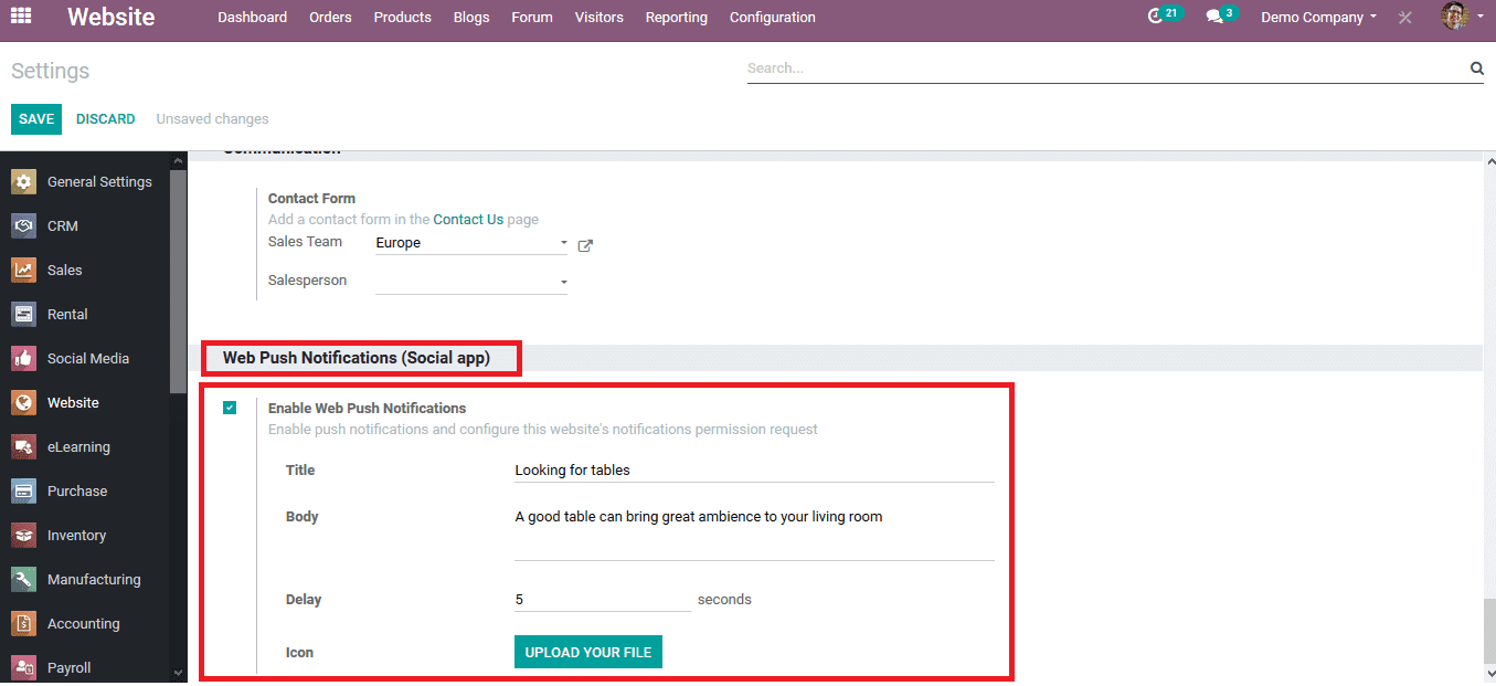 push-notification-odoo-13-cybrosys