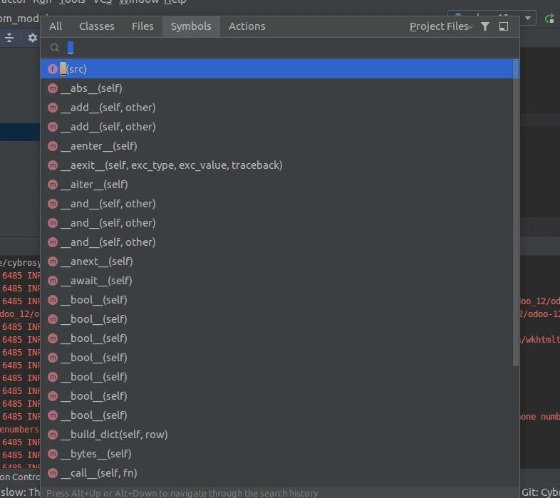 pycharm-shortcuts-gnome-cybrosys