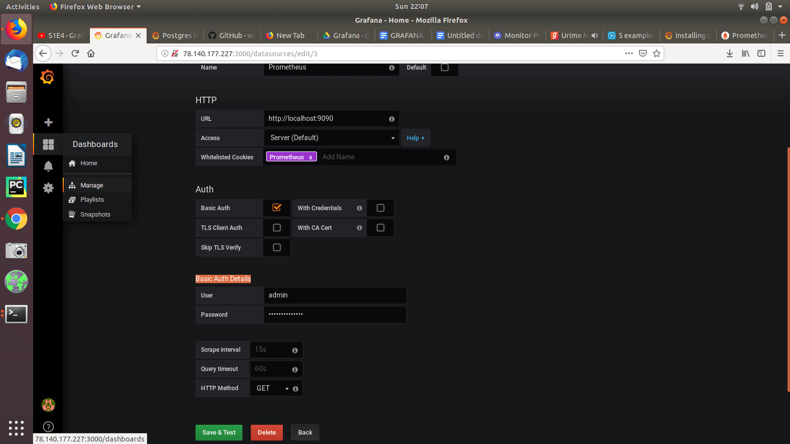server monitoring using grafana and prometheus