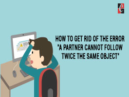 How to get rid of the error A Partner Cannot Follow Twice The Same Object