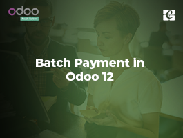 Batch Payment in Odoo 12