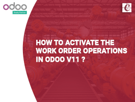 How to Activate the Work order operations in Odoo v11?