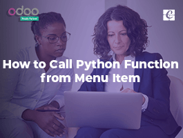 How to call python function from menu item