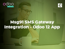 Msg91 SMS Gateway Integration - Odoo 12 App