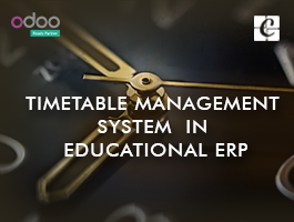 Timetable Management System  in Educational ERP