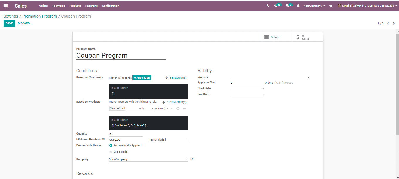Sales and Invoice - Odoo v12 Book | Cybrosys