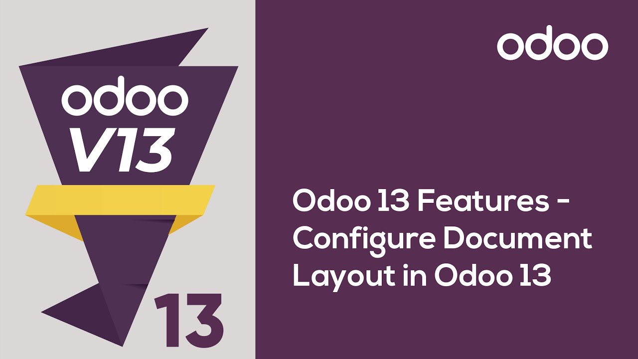 Configure Document Layout in Odoo 13