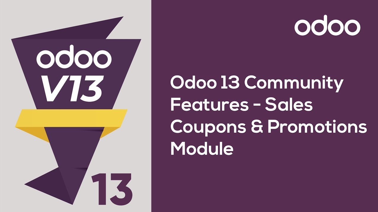 Sales Coupons and Promotions Module in Odoo 13