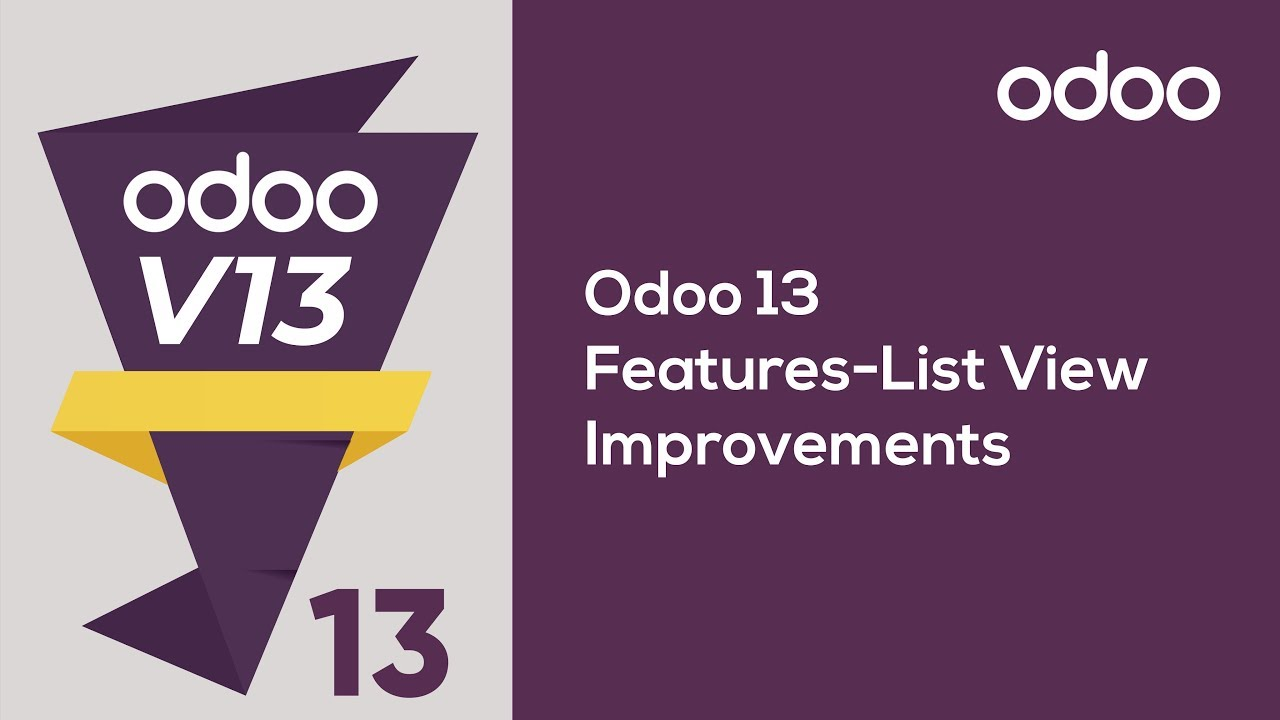 List View Improvements in Odoo 13