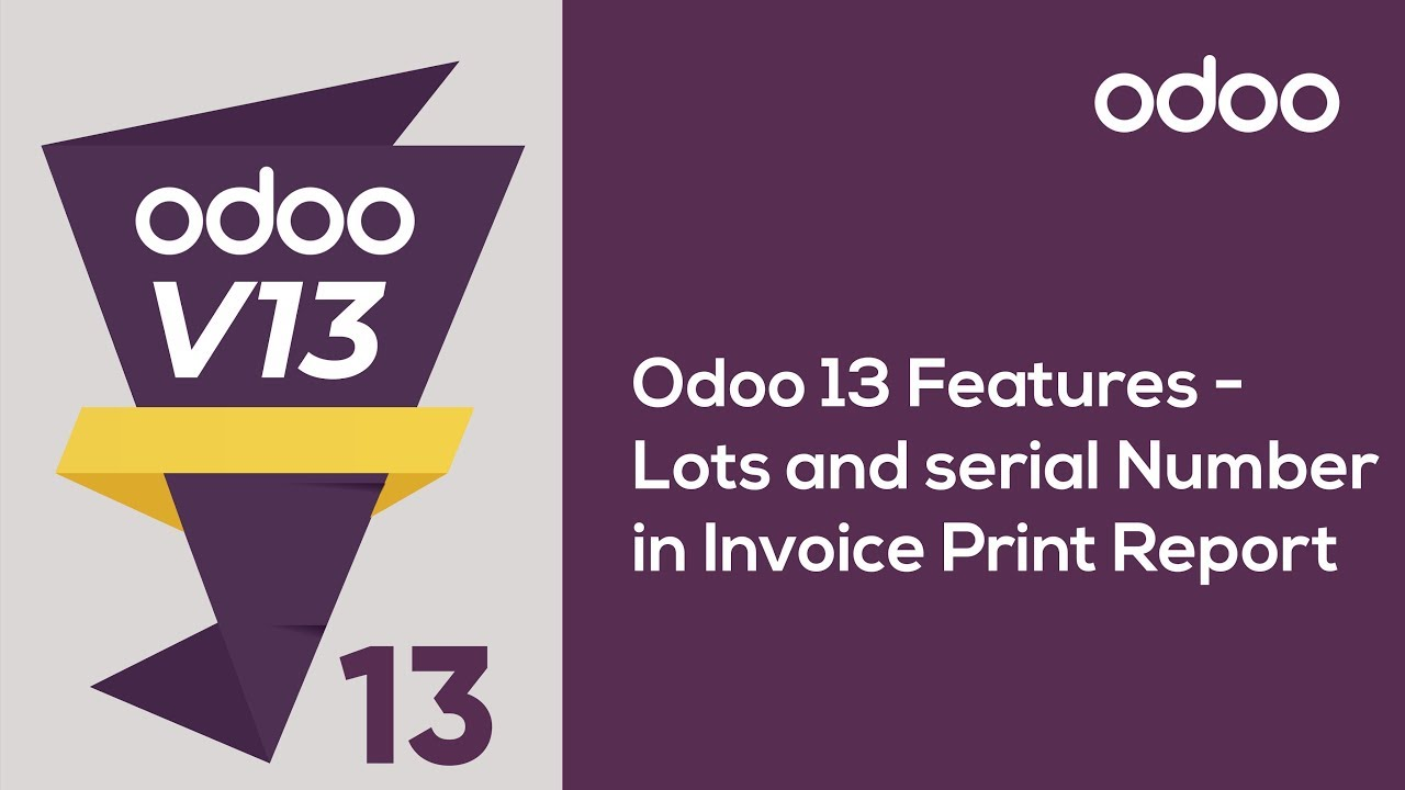 Lots and serial Number in Invoice Print Report on Odoo 13