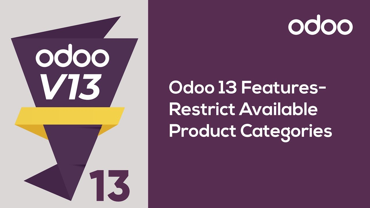 Restrict Available Product Categories in Odoo 13 POS