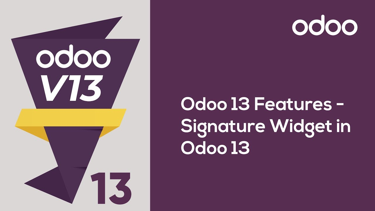 Signature Widget in Odoo 13